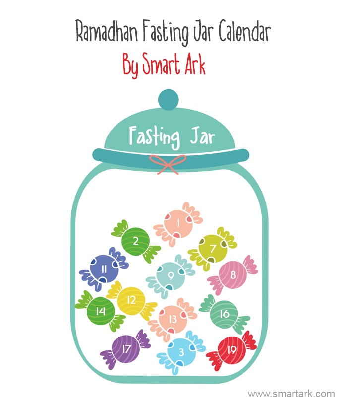 fasting jar tracker calendar